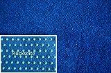 Rasenteppich Kunstrasen Premium blau Velours Weich Meterware, verschiedene Größen, mit Drainage-Noppen, wasserdurchlässig (200x100 cm)