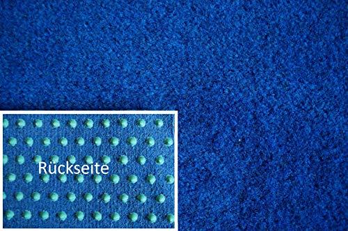 Rasenteppich Kunstrasen Premium blau Velours Weich Meterware, verschiedene Größen, mit Drainage-Noppen, wasserdurchlässig (400x400 cm)