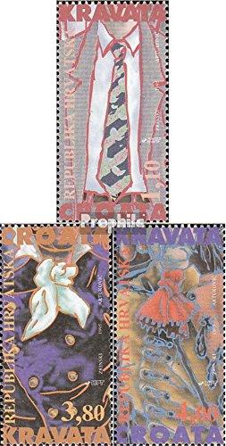 Prophila Collection Kroatien 306II-308II (kompl.Ausg.) 1995 Geschichte der Krawatte (Briefmarken für Sammler)