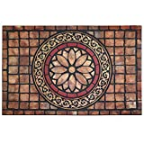 CHICHIC Entrance Door Mat Entry Way Doormat Front Door Rug Outdoor Heavy Duty Welcome Mat, Non Slip Rubber Back Low Profile for Garage, Patio, High Traffic Area, Large 24 x 36 Inch (Rectangle Style B)