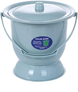 Portable Toilets Chamber Pot Women Urine Bowl Spittoons with Lids and Handle for Children Pregnant Woman Adults,Blue