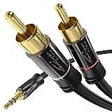 KabelDirekt - 3.5mm 2 Cinch Y Kabel - 2m - (3.5mm  2 RCA, Klinke auf Cinch) - PRO Series
