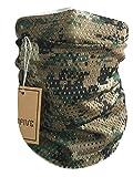 QMFIVE Taktischer Tarnungs-Schal, Unisex Mehrzweckmilitärstirnband-Art-Kopf-Verpackungs-Gesichts-Ineinander greifen-Halstuch für Kampf, Jagd, Klettern, Wandern, Radfahren im Freienaktivität (AOR2)