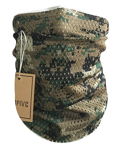 QMFIVE Taktischer Tarnungs-Schal, Unisex...