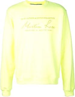 MARTINE ROSE Luxury Fashion Mens CMRAW19601FLUORO Yellow Sweatshirt | Fall Winter 19