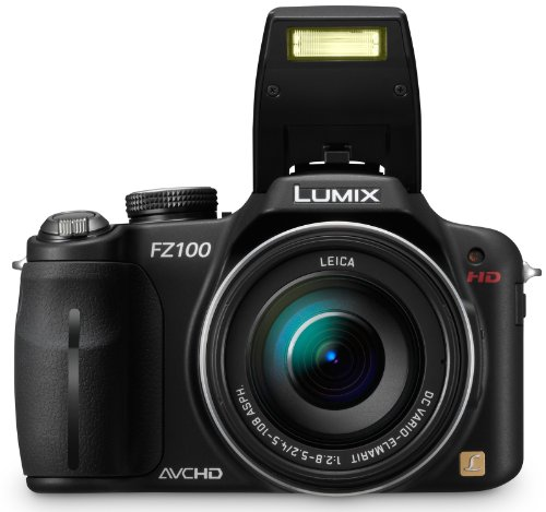 Panasonic Lumix DMC-FZ100EGK Digitalkamera (14 Megapixel, 24-fach opt. Zoom, 7,5 cm (3 Zoll) Display, Bildstabilisator) schwarz