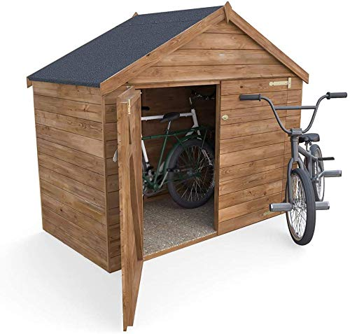 Gartenrad im Freien, mit vorfestem Dach, komplett unter Druck stehender Gartenradraum,木色