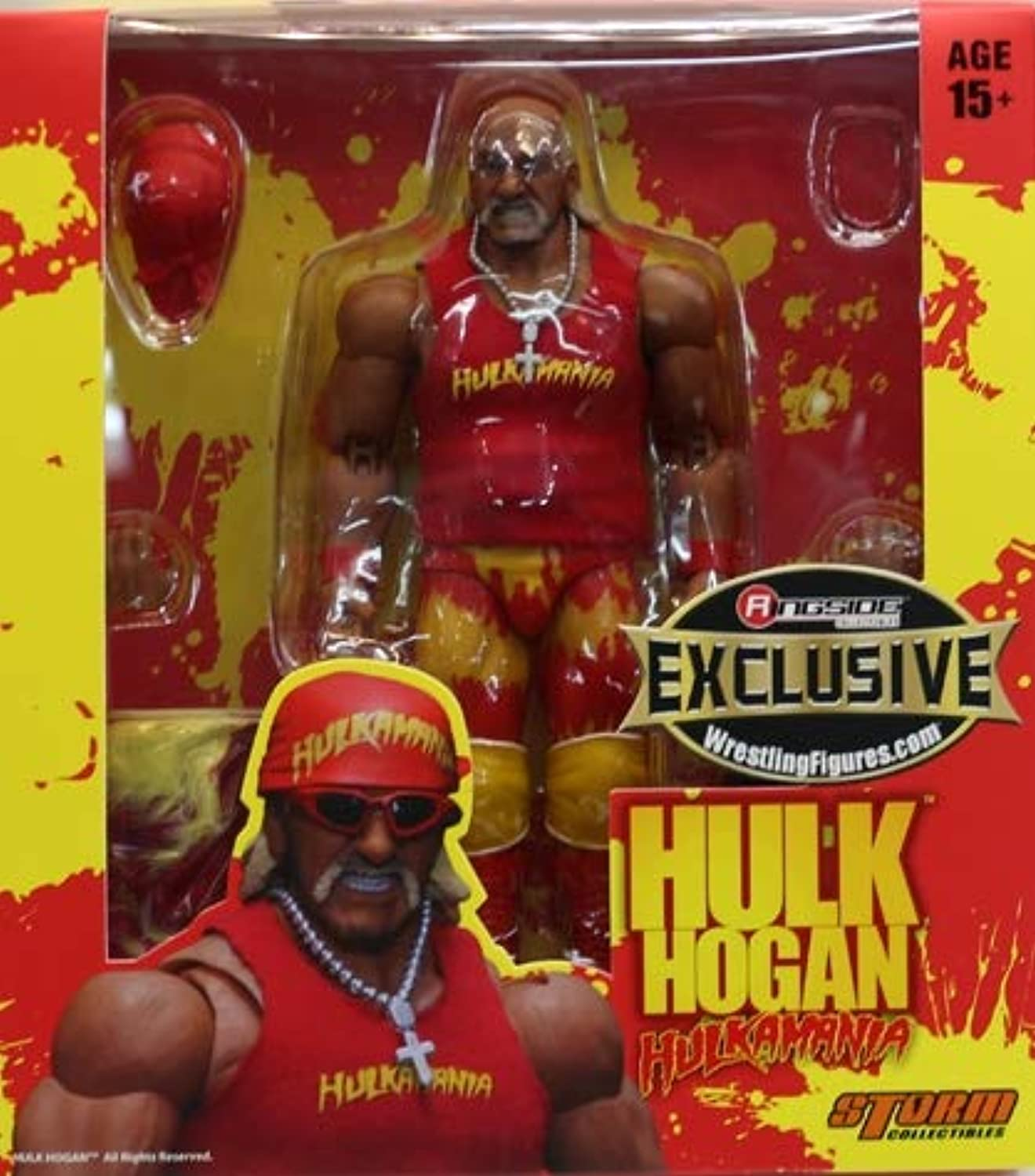 Wrestling Red & Yellow Action Figure Hulk Hogan Hollywood WWE Elite