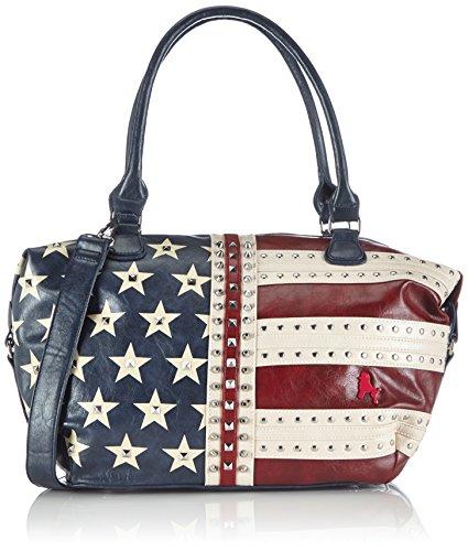 poodlebag Handtaschen Damen Schulter-Taschen mit Nieten im US Flaggen Design Funkyline Flag Thursday 3FL0714THUS