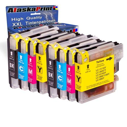 8X Druckerpatronen kompatibel für Brother LC-980 XL LC980 XL Brother DCP-145C DCP-163C DCP-165C DCP-167C DCP-185C DCP-195C DCP-365CN DCP-373CW DCP-375CW
