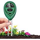 Metro di pH del terreno, umidità del terreno 3-in-1 / Tester di luce / PH Tester, kit attrezzi da giardinaggio per la cura delle piante, nessuna batteria richiesta, adatta per interni ed esterni, pian