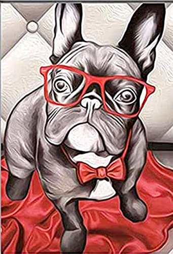 Diamond Painting of French Dog.DIY 5D Diamond Painting Kits for Adults.Art Set for Home Wall Decoration.Diamond Dotz Gift for Family.Sloth and Strong French Bulldog Diamond Painting.Frameless