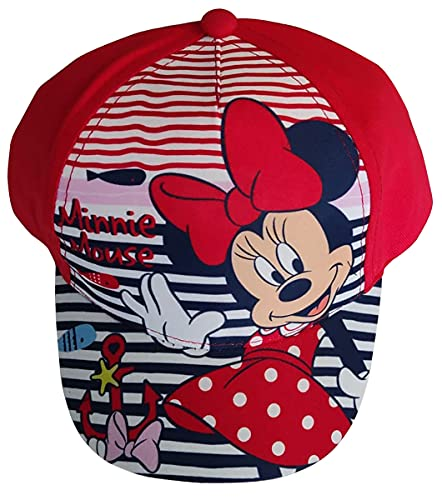 Minnie Maus mit Anker und Wale Kappe Base Cap Mütze Sonnenhut für Kinder, Jungen und Mädchen (Rot, 50)