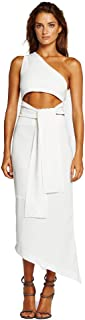 Maurie and Eve After Midnight Dress - Women's One Shoulder Asymmetric Midi Dress