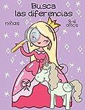 Busca las diferencias: libro de actividades niñas, juegos educativos 3-6 años.