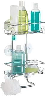 mDesign Panier de Douche – Montage sans perçage – Rangement de Douche (Grand) en Acier, pour shampooing, éponges, rasoirs ...