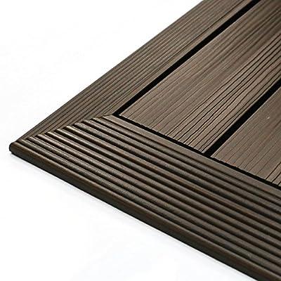 NewTechWood QuickDeck Composite Deck Tile Outside Corner Trim