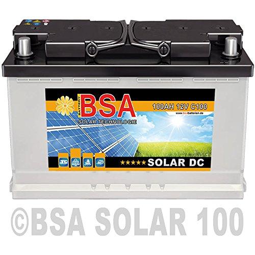 Preisvergleich Produktbild BSA Solar DC 12V 100Ah Batterie Solarbatterie Versorgungsbatterie Boot Wohnmobil - 6 Grössen (100Ah)