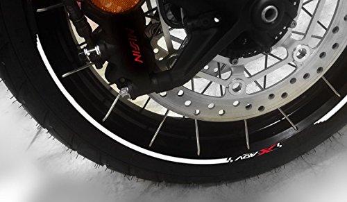 Tiras Adhesivo para Ruedas Compatible para Moto Scooter Honda X-ADV 750 Xadv - Blanco