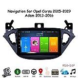 Gokiu Android 9.1 GPS Autoradio Navigazione Stereo per Opel Corsa 2015-2019/Adam 2013-2016, con 8'' Touch Screen Supporto Sistemi Video/Chiamate Bluetooth/FM AM RDS DSP OBD2,8 Core,4G+WiFi: 2+32GB