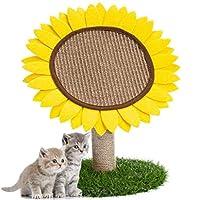 猫の木 ひまわり猫アクティビティツリータワー、猫スクラッチポスト、サイザル麻ロープを持つ猫の爪スクラッ会