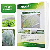 Agfabric Standard Insect Screen & Garden Netting Against Bugs, Birds & Squirrels - 16ftx25ft of Mesh Netting, White