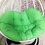 YEARLY Double Korb Sitzkissen, Schaukel Hängen Stuhlauflage Verdicken Sie Home Überfüllte Rückenschmerzen Balkon Rattan Wiege Hängematte Nest Stuhlkissen-grün 145x54x54cm(57x21x21inch)