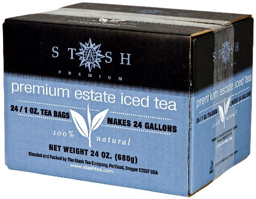 Stash Tea Premium Estate Iced Tea 1 Ounce Iced Tea Brew Bags (Pack of 24) Black Tea Bags for Brewing Iced Tea, One Bag Makes 3 Quarts of Iced Tea, Drink Sweetened or Plain