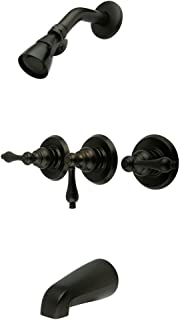 Elements of Design Magellan EB235AL Three Handle Tub and Shower Faucet, Oil Rubbed Bronze