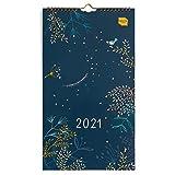 Boxclever Press Everyday Wandkalender 2021 für Zwei. Slimline Kalender 2021 Wandkalender für mehrere Terminpläne. Kalender 2021 von Jan. – Dez. 2021. Kleiner Familienplaner 2021 4 spalten mit Tasche.