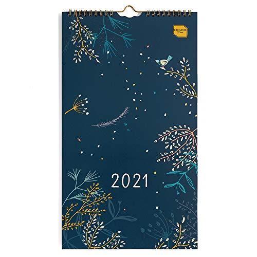 Boxclever Press Everyday Wandkalender 2021 für Zwei. Wandkalender 2021 Schmal für mehrere Terminpläne. Kalender 2021 Wandkalender von Jan. – Dez. \'21. Kleiner Familienplaner 2021 4 spalten mit Tasche.