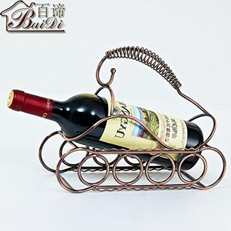 moda clasica Hhoro Continental Iron Iron Iron Creativo Retro Tanque de Metal Rojo Antiguo Bronce Vino Estante exhibición, 1 (Color   -, Tamaño   -)  Sin impuestos