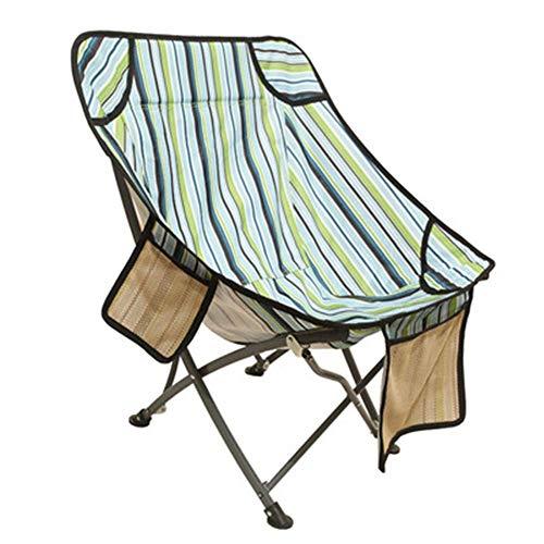 WPCBAA Outdoor draagbare maan stoel visstoel vouwstoel ultra licht dikke canvas directeur campingstoel rugleuning
