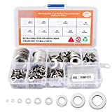 304 Stainless Steel Flat Washers Set, 600PCS Fender Washers Assortment Kit, 9 Sizes M2 M2.5 M3 M4 M5 M6 M8 M10 M12 Suitable for Handmade, Home Decoration, Factories Repair, Electrical Connections