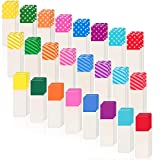 1920 Pieces Neon Page Marker Pop-up Page Flags Page Tab Colored Index Tabs Writable and Repositionable File Tabs Flags Fluorescent Sticky Note Tab for Page Marker, 1.6 x 0.5 Inch, 24 Colors