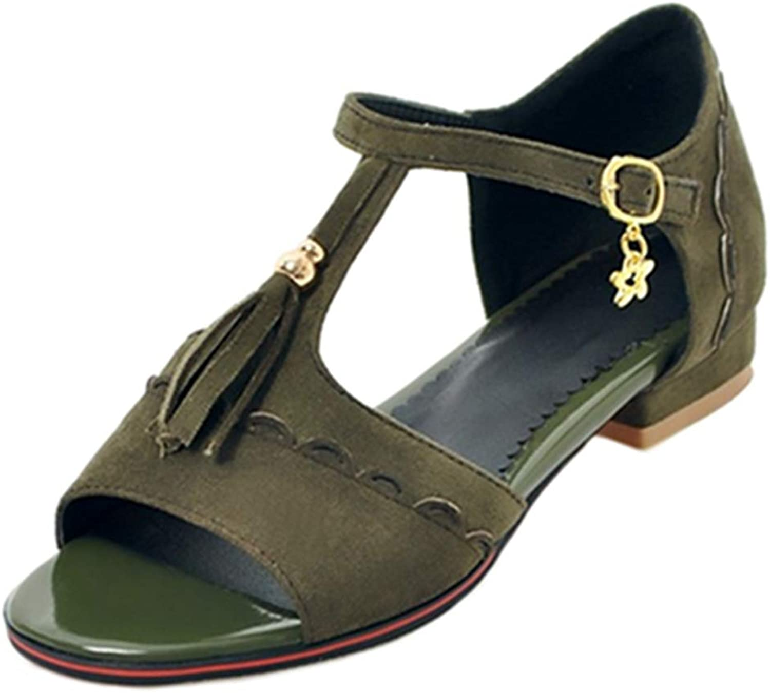 Lashoes Casual Sandals with Low Heel for Fashion Women