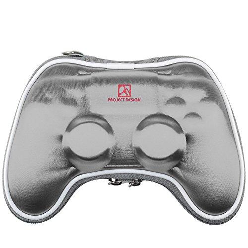 GAMINGER Borsa da viaggio, custodia, borsello per Dualshock Controller per Play Station 4 con cinturino da trasporto- argento