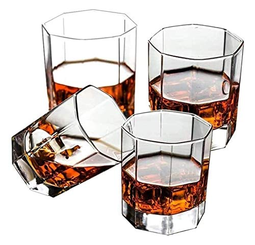 BaiJaC Copas de cóctel, Dispensador de Botellas de Licor Whisky Decanter Gafas de Whisky, Gafas de Whisky soplado a Mano, Gafas de Whisky Antiguas, Gafas escocés Premium