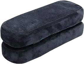 Homyl 2X Almofadas de Braço de Cadeira Universais Almofadas de Alívio de Cotovelo de Espuma de Memória Chair Arm Cushion