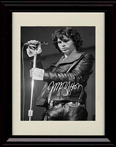 Framed Jim Morrison Autograph Replica Print - The Doors - Lizard King