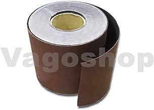 25m KLETT Schleifpapier Rolle 115mm X 25m Korn P120 Schleifband Schleifrolle Rollenschleifpapier BOHRFUX