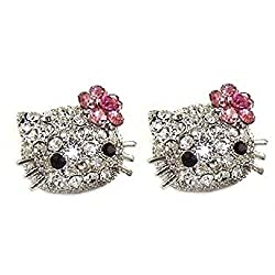 Cute Hello Kitty Crystal Earrings