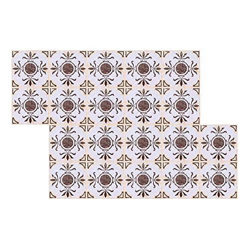 Meiyya Etiqueta engomada Diagonal, 20PCS Etiqueta engomada Diagonal del azulejo para la Cocina para la Oficina para la Sala de Estar para el baño