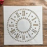 30 x 30 cm, diseño de mandala de reloj de bricolaje para pintura de pared, álbum de recortes para colorear en relieve, plantilla de tarjeta de papel decorativo, pared 146