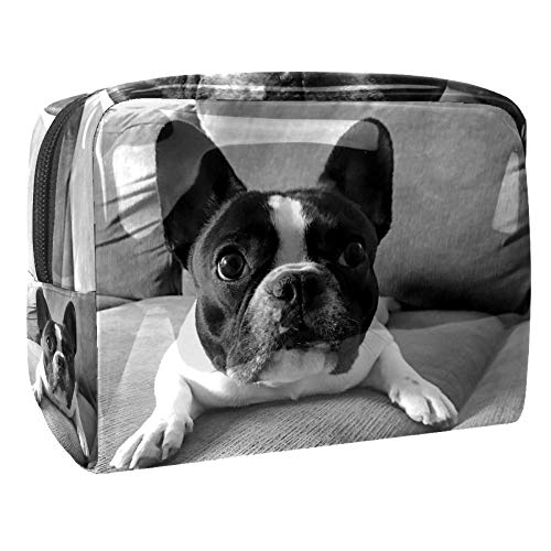 Maquillage Cosmetic Case Multifunction Travel Toiletry Storage Bag Organizer for Women - Puppy Dog Vintage