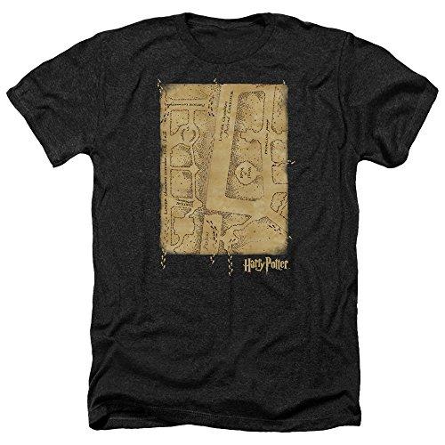 Harry Potter – Camiseta para hombre Marauders Map Interior Heather negro L