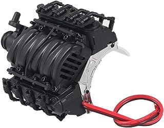 1/10 metall V8 motorkåpsplatta för D90 TRX-4 RC Crawler uppgraderingsdelar, 70 x 70 x 55 mm – välj färger – svart, 70 x 70...