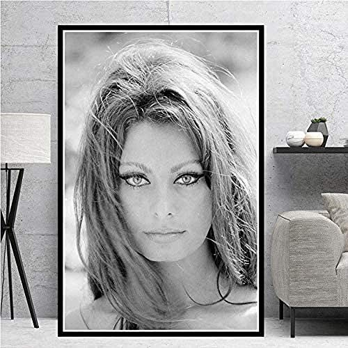 RIII 5D DIY diamond painting black and white actress movie woman girl round diamond print oil painting cross kit full diamond wall art picture home decoration without frame -40x50cm