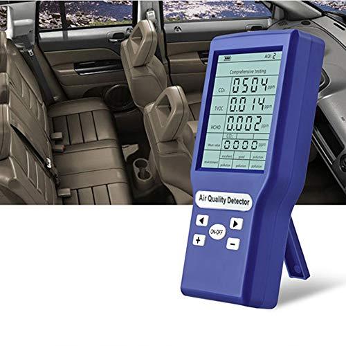 KKmoon - Detector de calidad del aire (CO2, detector de gas inflamable, Toxico CO2 TVOC HCHO ppm metro) Mini detector de dióxido de carbono, analizador de gas portátil comprobador de calidad del aire