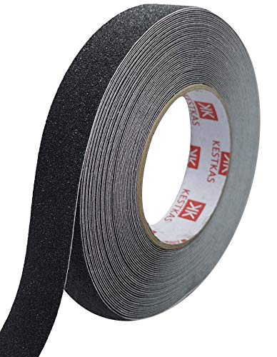 Cinta Antideslizante Adhesiva Resistente 25mm x 15m KESTKAS para Interiores y Exteriores - No deja residuos - Fácil de...